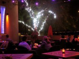 Live music on Rhythm & Wine patio.